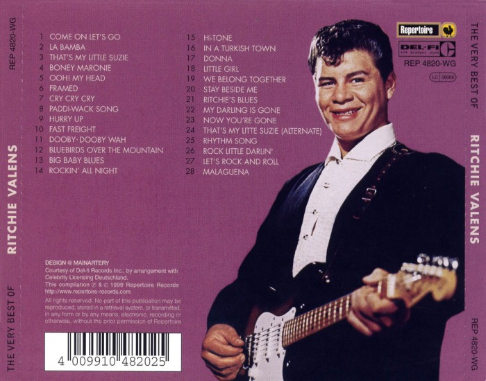 Ritchie Valens The Very Best Of Ritchie Valens Trasera 700x550 February 3, 1959   The Day the Music Died