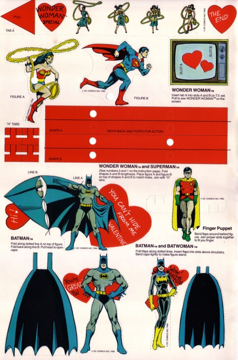 SuperFriends Valentines Page1 463x700 SuperFriends Valentines Valentines Day Humor Comic Books