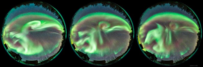 aurora h3kwon 700x233 Auroral Substorm over Yellowknife  Wallpaper Science! Nature