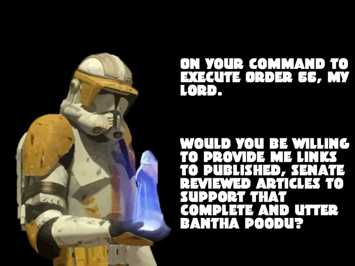 say no to order 662 700x525 Commander Cody gets a Clue.