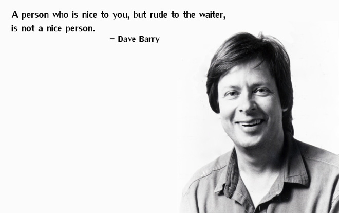 nice Dave Barry on people who hate.