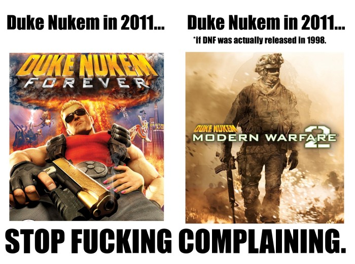 dnf 700x520 Duke Nukem Forever... what it could have been. wtf Sad :( Gaming
