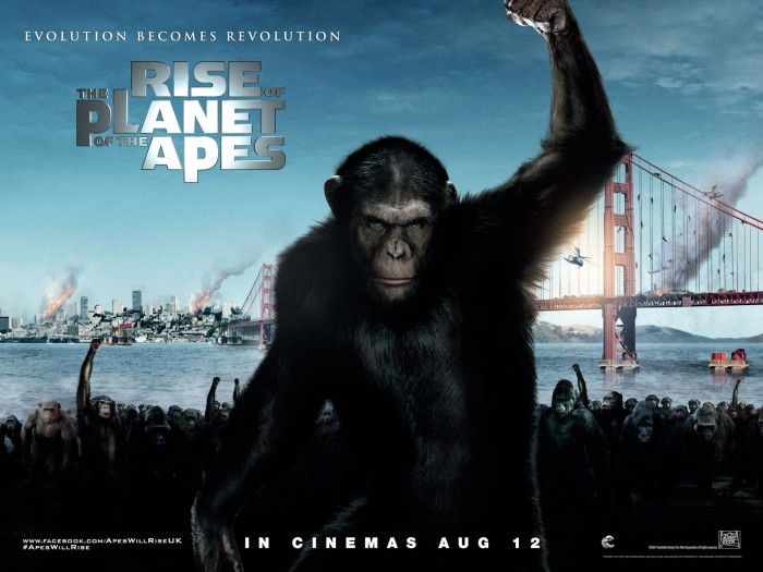 rise of the planet of the apes quad 700x525 APES! Wallpaper Movies Movie posters Fantasy   Science Fiction