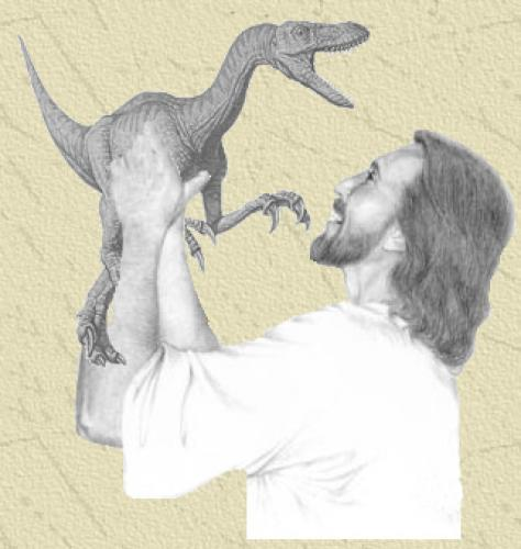 jesus.thumbnail jesus with dinosaur Religion