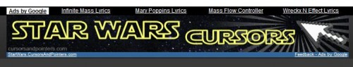 cursors 500x95 Epic Star Wars cursors wtf Movies