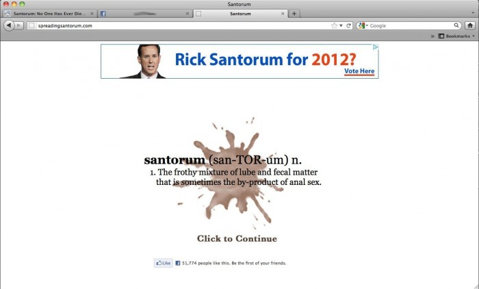 cdMA27891481 0007 700x422 Santorum definition wtf Politics gay Dark Humor