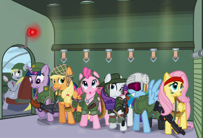 22118   applejack artist nyerpy derpy derpy hooves fluttershy GUNS pinkie pie rainbow dash rarity vietnam war 700x475 vietnam war: friendship is magic my little ponies Military