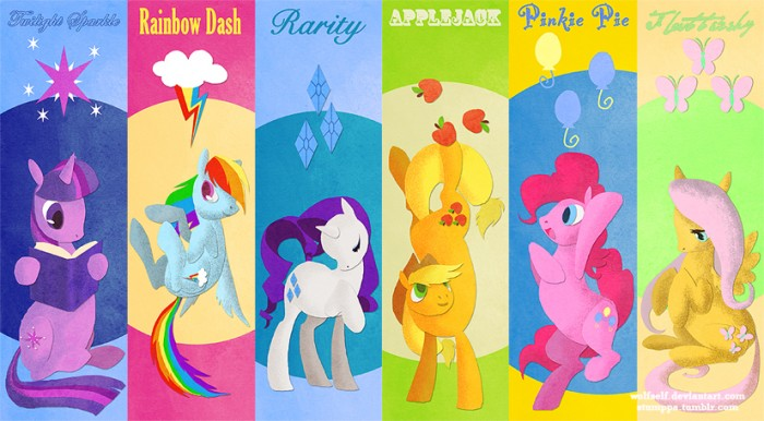 mane six by wolfself d4l6qod 700x386 mane six my little ponies