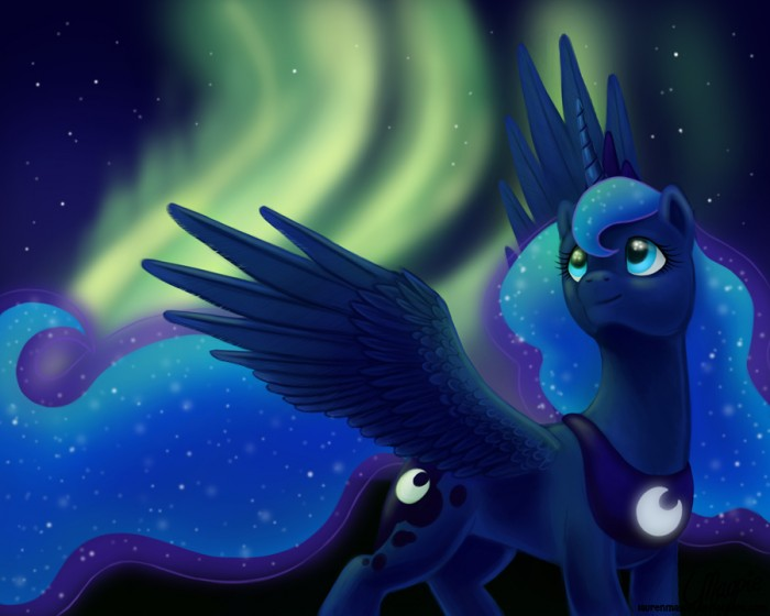 princess luna  s aurora by laurenmagpie d4l40dm 700x560 luna under auroras my little ponies