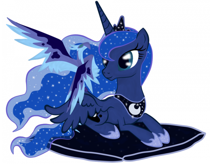 luna  s pet by virenth d4ltrw4 700x552 luna on pillow my little ponies