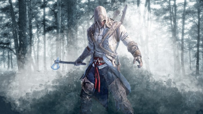 assassin  s creed 3   connor  s wallpaper by syan jin d4sfmxo 700x393 Assassins Creed 3   Connors Wallpaper