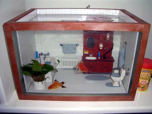 untitled Bathroom aquarium