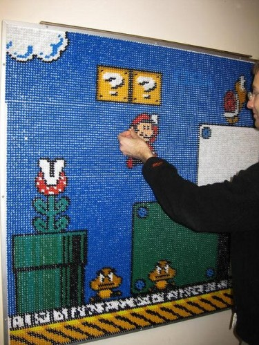 pushpi7 375x499 Push pin Mario art. Gaming