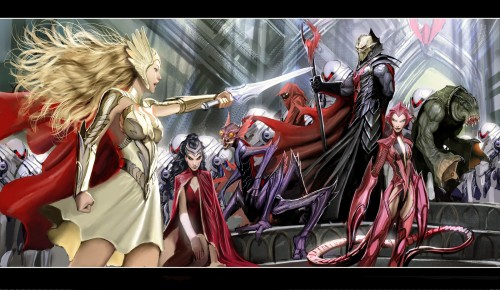she ra by nebezial 500x290 He Man and She Ra Wallpaper Television Comic Books