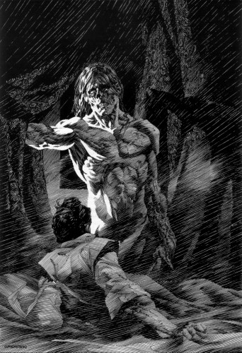 wrightson frankenstein 11 342x500 Frankenstein illustrations by Bernie Wrightson wtf Fantasy   Science Fiction Comic Books