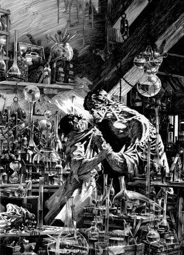 wrightson frankenstein 34b 361x500 Frankenstein illustrations by Bernie Wrightson wtf Fantasy   Science Fiction Comic Books