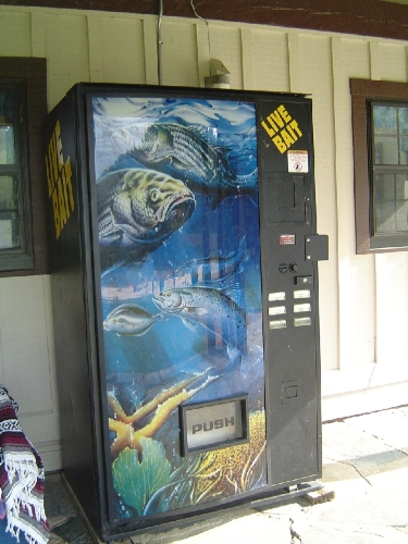 live bait vending machine Bait vendor. funny