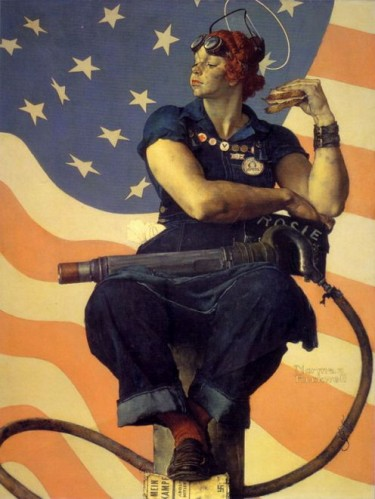 Rockwell RosieRiveter 375x499 Rosie the Riveter Art