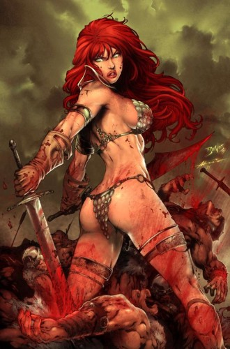 Red Sonja Fights by edbenes 330x500 Red Sonja Art