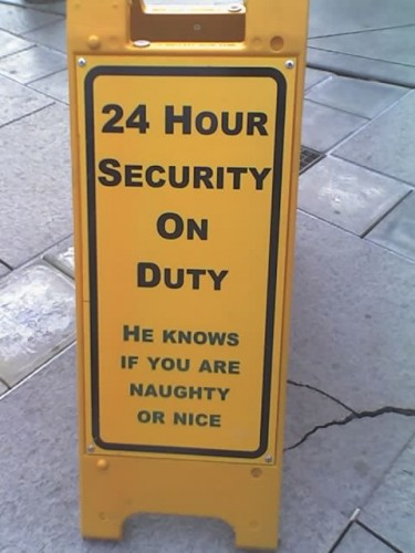 mcs 20070219 12 14 06 1254 375x500 Santa is a security guard xmas X Mas Humor