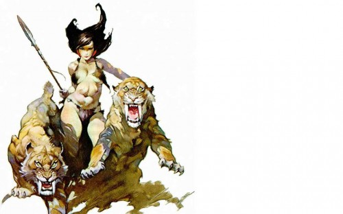 frank frazetta no title 500x312 Jungle Queen Sexy Art