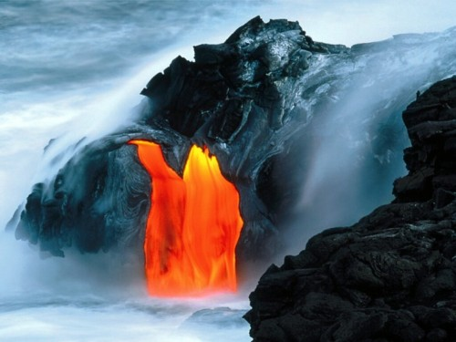 Kilauea Volcano Lava Flow Hawaii 500x375 Kilauea Volcano Lava Flow Hawaii Wallpaper Nature