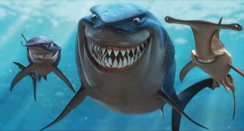 bruce chum anchor 500x270 Finding Nemo: Bruce, Chum, Anchor Wallpaper Movies