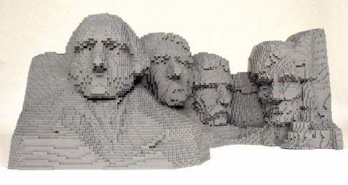 Rushmore1 500x267 LEGO Art Politics Music Movies Legos