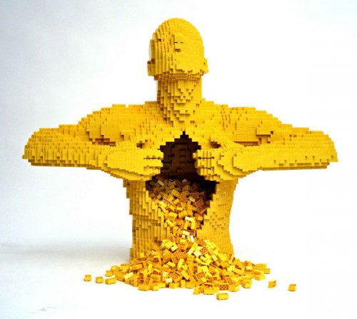 Yellow3 500x447 LEGO Art Politics Music Movies Legos