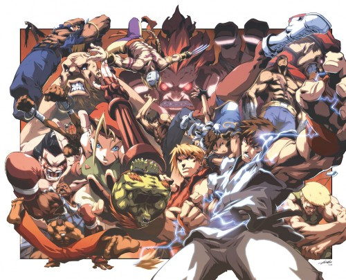 street fighter anime 500x404 Street Fighter