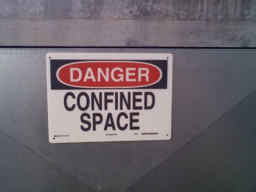 ConfinedSpace 500x375 Confined Space Sign