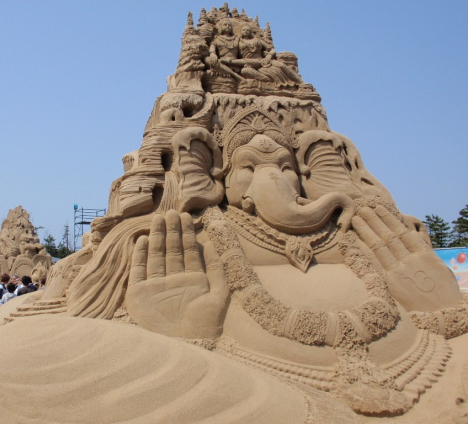 ganesh sand sculpture Best Sand Castle EVER Art